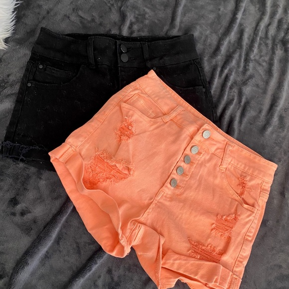 Pants - Distressed High Waisted Shorts